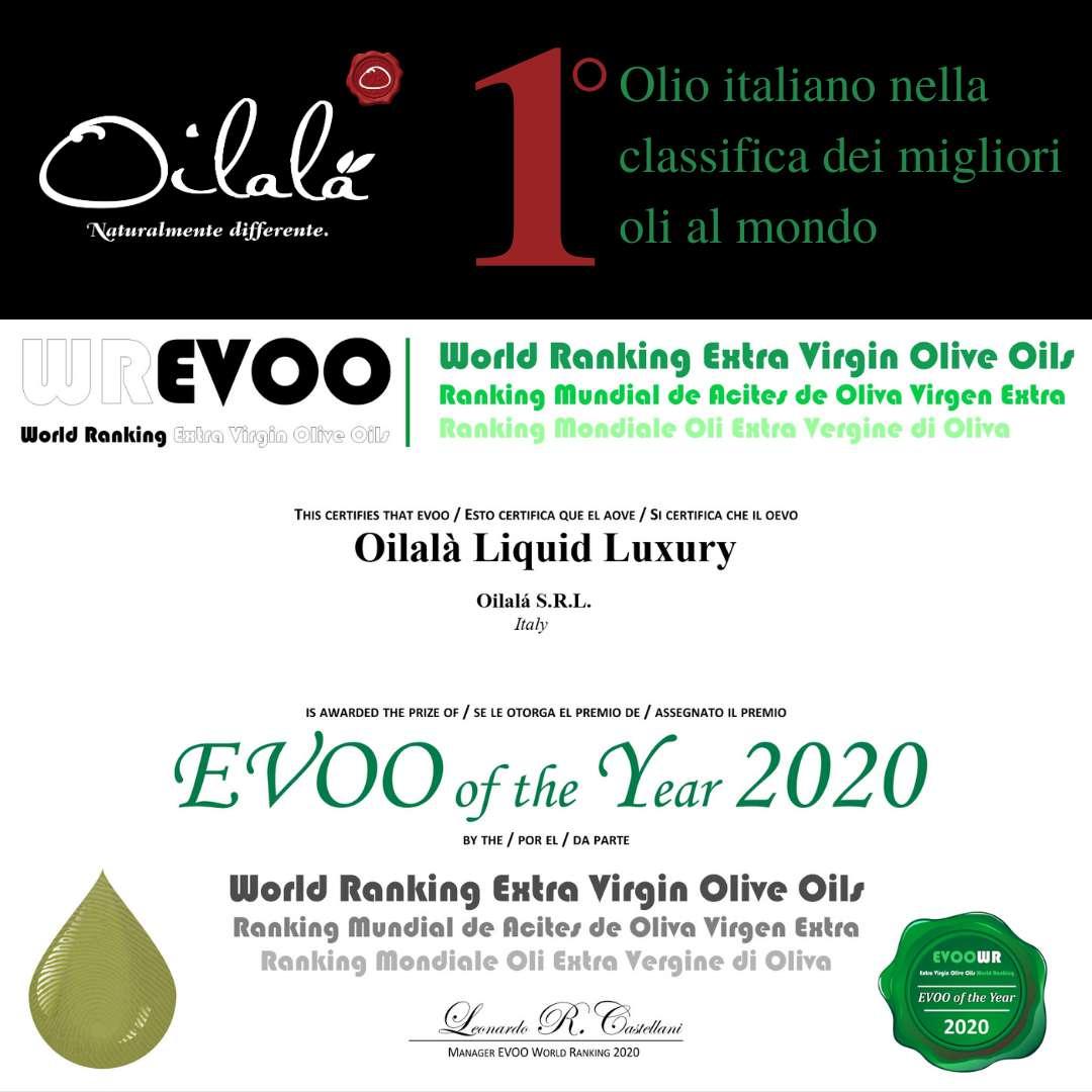 Certificato WREVOO miglior olio italiano al mondo