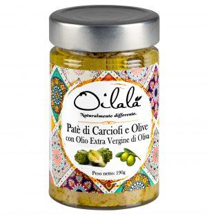 patè di olive e carciofi